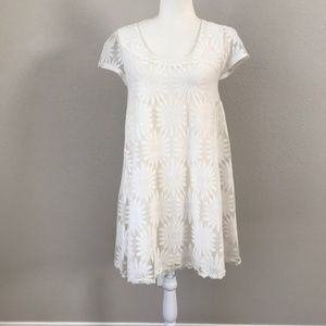 Kimchi Blue White Sunflower Lace Dress NWT Medium